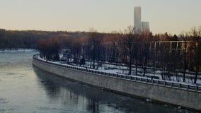 Remblai près du stade de Luzhniki Image libre de droits