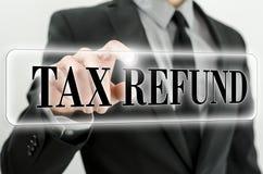 Remboursement d'impôt fiscal Image libre de droits
