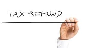 Remboursement d'impôt fiscal Photographie stock libre de droits