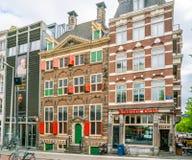 Rembrandt domu muzeum dokąd Rembrandt malował najwięcej jego paitings w starej Żydowskiej ćwiartce Amsterdam zdjęcie royalty free