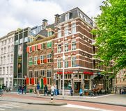 The Rembrandt House Museum where Rembrandt painted most of his paintings in the old Jewish quarter of Amsterdam. Amsterdam May 18 2018 - The Rembrandt House royalty free stock photos