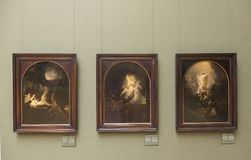 Rembrandt lavora al Alte Pinakothek - Monaco di Baviera Fotografie Stock
