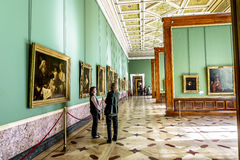 The Rembrandt room in the Hermitage Museum in St. Petersburg.Rus Royalty Free Stock Photography