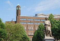Rembrandt square. The statue of Rembrandt on Rembrandt square in Amsterdam (Netherlands Stock Image