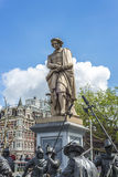 Rembrandt statue in Amsterdam, Netherlands Royalty Free Stock Photo