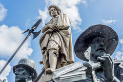 Rembrandt statue in Amsterdam, Netherlands Stock Photography