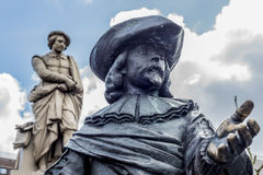 Rembrandt statue in Amsterdam, Netherlands Stock Photos