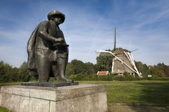 Rembrandt statue in the outskirts of Amsterdam Stock Photos