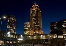 Rembrandt Tower by Night. Office buildings in Amsterdam, Netherlands Stock Photography