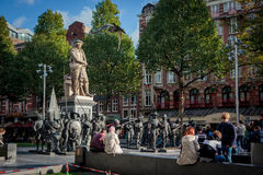 Rembrandtplein is a major square in Amsterdam, the Netherlands Stock Photos
