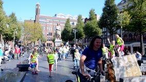 Rembrandtplein (place de Rembrandt) à Amsterdam, Ne Photos libres de droits