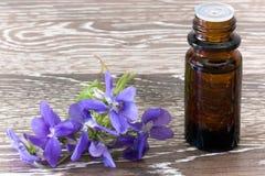Remèdes de fleur de Bach des violettes Photo stock
