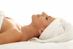Remedial. Beautiful lady in spa salon Stock Photography