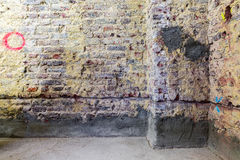 Remediation of brick wall Royalty Free Stock Images