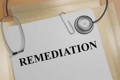 Remediation - medical concept Stock Images