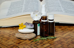 Remedies and homeopathic guide book Stock Photos