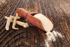Remedio de Ashwagandha Superfood foto de archivo libre de regalías