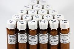 Remedios homeopáticos Foto de archivo