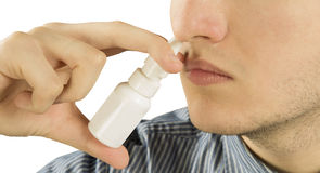Remedy of runny nose Stock Photography