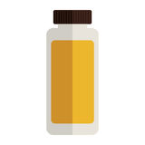 Remedy tubular bottle with tap and label. Vector illustration Stock Photography