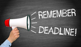 Remember Deadline Megaphone Royalty Free Stock Image