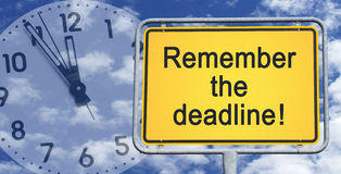 Remember the deadline sign Royalty Free Stock Photography