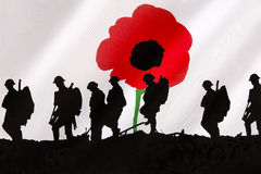 Remember the Fallen Heroes - Poppy Day Royalty Free Stock Photography