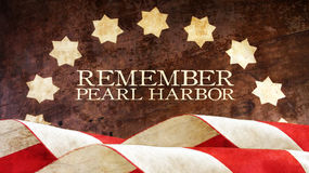 Remember Pearl Harbor. Wood. Remember Pearl Harbor. Usa Flag Waves on Wood Royalty Free Stock Image