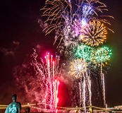 Remember the Sacrifice. Fireworks from a 4th of July celebration in Tempe, Arizona Royalty Free Stock Photos