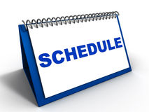 Remember schedule appointments. Calendar with the word Schedule in blue, to remind you of your daily or weekly schedule for important meetings, appointments and Royalty Free Stock Image