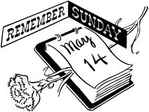 Remember Sunday Royalty Free Stock Photo