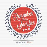 Remember their sacrifice Stock Images