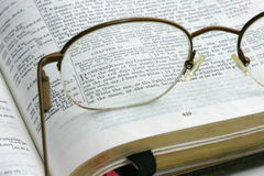 Remember Thy Creator. Verses of scripture seen through glasses Stock Photography