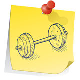 Remember to go to the gym Royalty Free Stock Photo