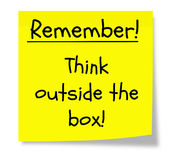 Remember to Think Outside the Box Royalty Free Stock Photo