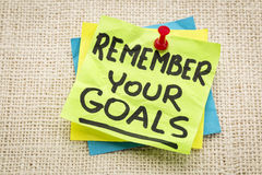 Remember your goals Royalty Free Stock Photo
