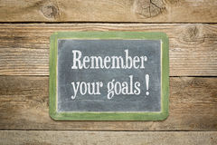 Remember your goals Stock Image