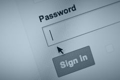 Remember your password? Royalty Free Stock Photo