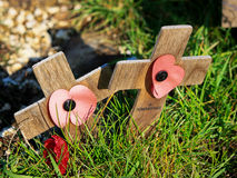 Rememberance Crosses Stock Photos