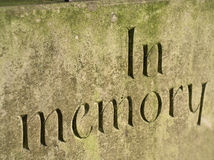 Rememberence. Detail of headstone Royalty Free Stock Photos