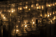 Remembering candles Royalty Free Stock Photography