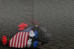 Remembering the Names in Stone--Vietnam Memorial, Washington, D.C. Stock Image