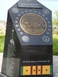 Remembering Veterans. Veterans Memorial Island Sanctuary Monument stock images