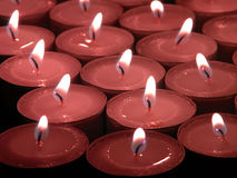Remembrance Candles Royalty Free Stock Photography