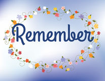 Remembrance card Royalty Free Stock Photography