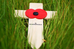 Remembrance cross Royalty Free Stock Photos