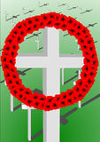 Remembrance Crosses Stock Images