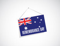 Remembrance day australia hanging banner Royalty Free Stock Photos