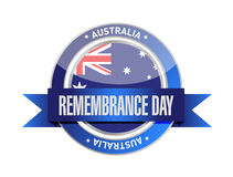remembrance day. australia ribbon seal Royalty Free Stock Photography