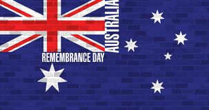 Remembrance day. australian flag Royalty Free Stock Photos